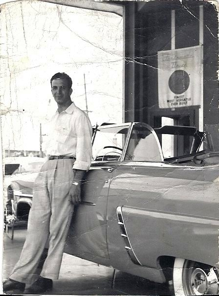 My Dad, in his younger car selling days!