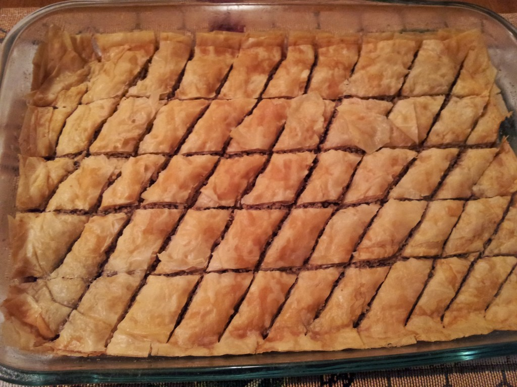 The Baklava, fresh out of the oven