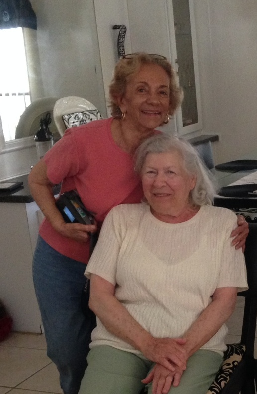 Mom and Alisha. Photo by Mary Jamis