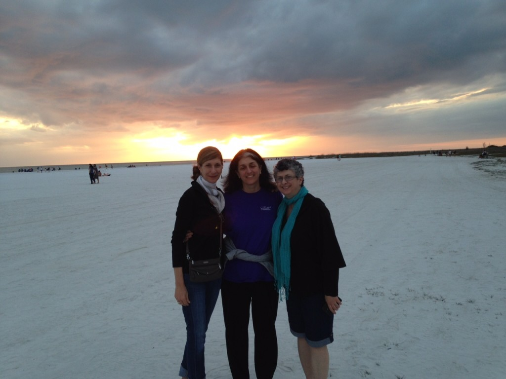 My Sisters and I on the Beach at Siesta Key