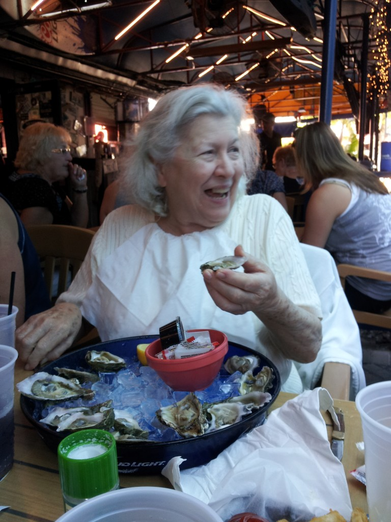 Mom at the Siesta Key Oyster Bar