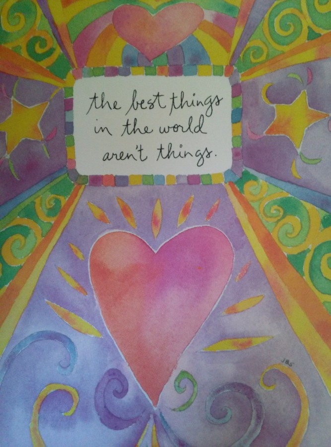 The Best Things are Not Things