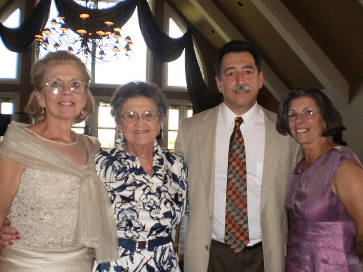 (L to R) Aunt KC, Margaret, George her son, Joanie her daughter