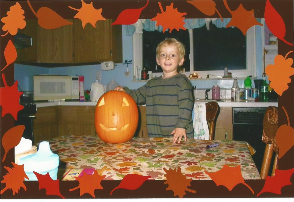 Gavin loved to carve pumpkins!
