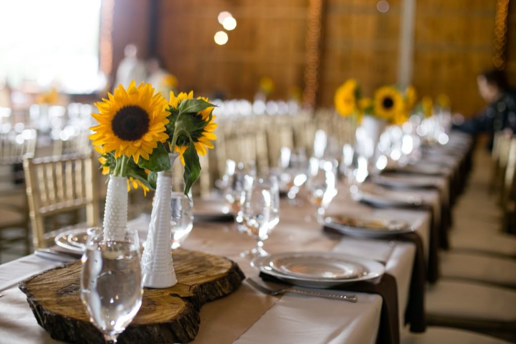 Table Settings and Sunflowers. Photo by Jessica Lubert.