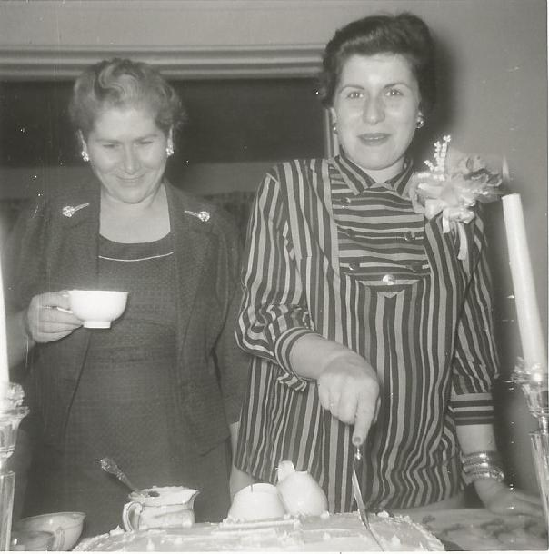 My Grandmother (Yiayia), left, and my Mother Katherine, right, at her baby shower.