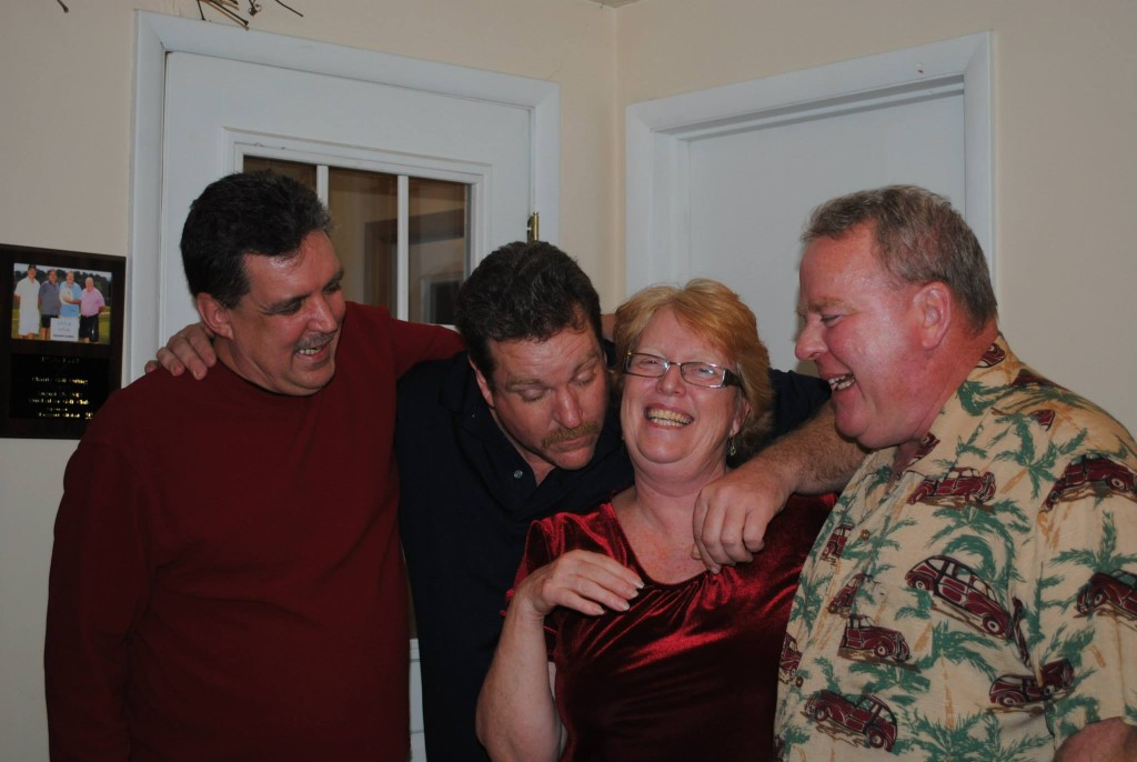 Jim and his siblings hamming it up! From Left, Chuck, Tom, Katie, and Jim.