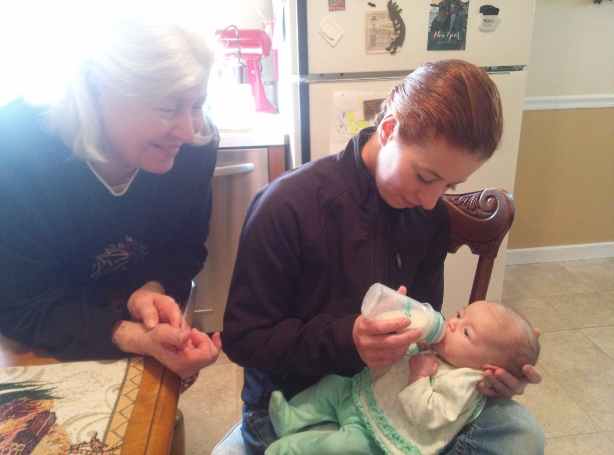 Three generations- From L to R, Grandmother Katherine, Granddaughter Michelene, Great Granddaughter Penelope Katherine