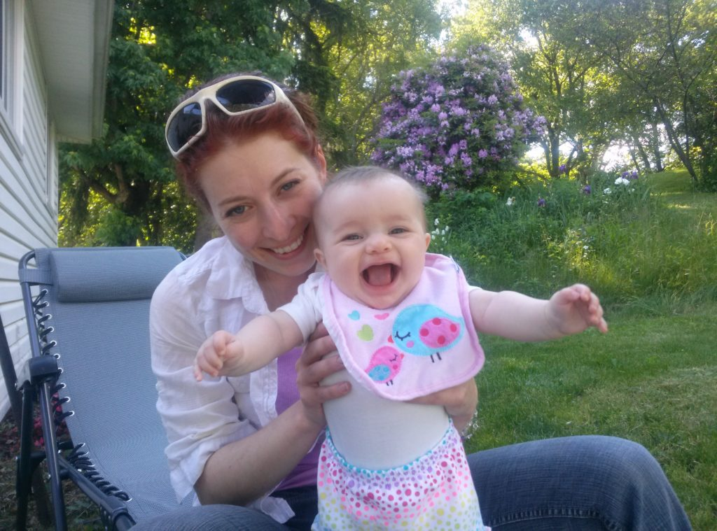 My daughter Michelene and granddaughter Penny, on a beautiful summer day.